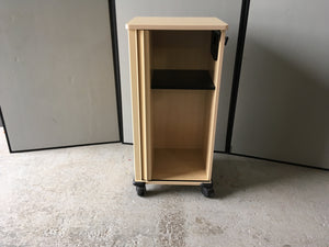 Maple effect wooden storage unit