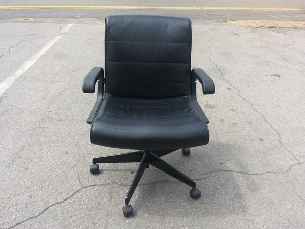 'Knoll' 1980's Leather Operator Chair