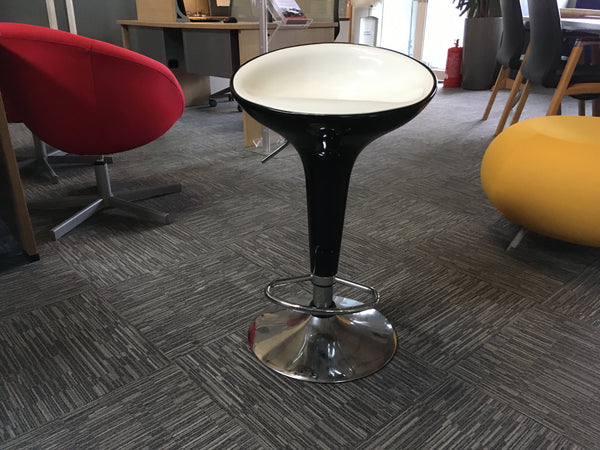 Black and White Retro Stools