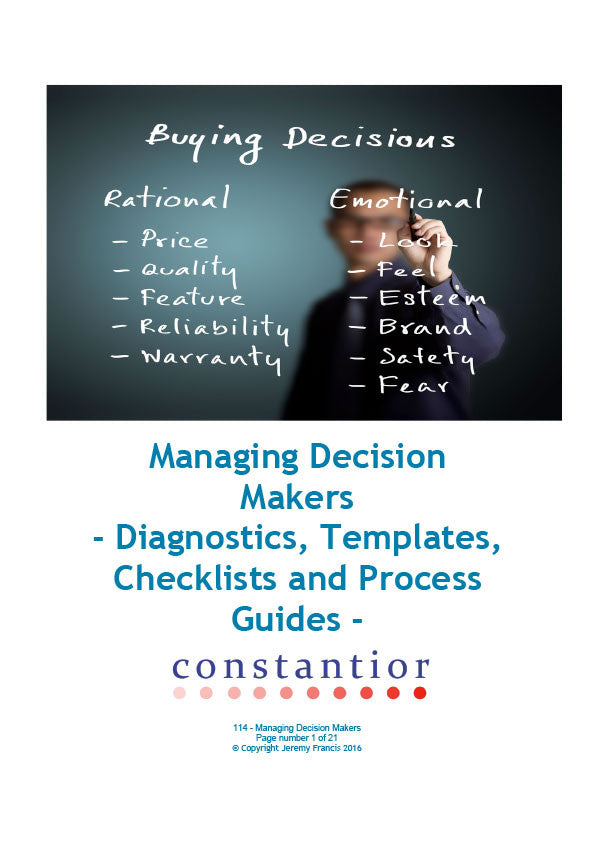 Managing Decision Makers