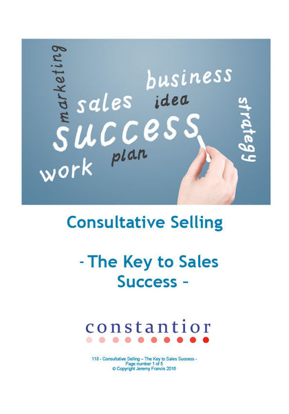 Consultative Selling, The Key to Sales Success