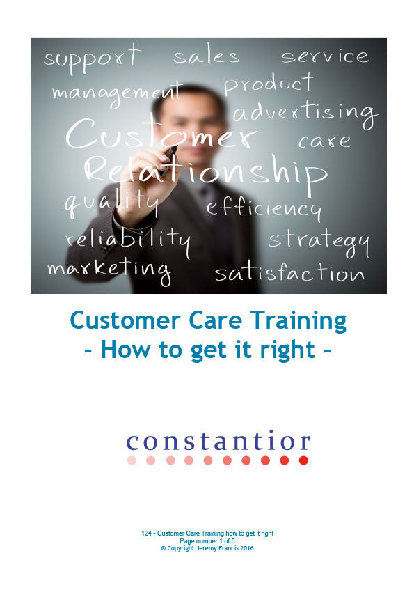 Customer Care Training, How to get it right