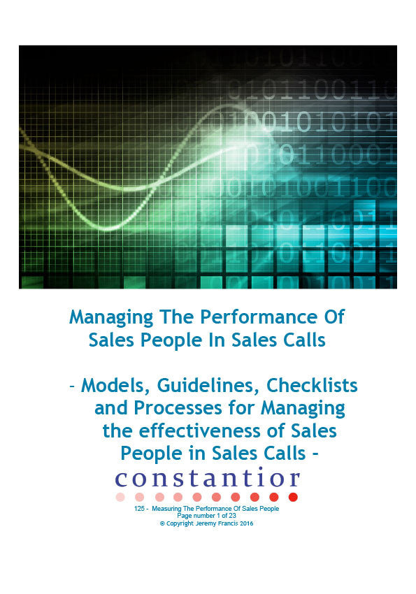 Measuring The Performance Of Sales People