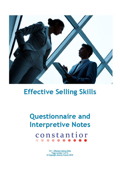Effective Selling Skills