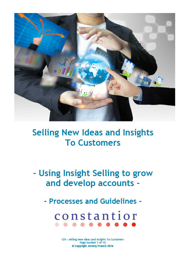 Selling New Ideas and Insights To Customers
