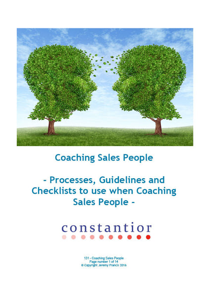 Coaching Sales People