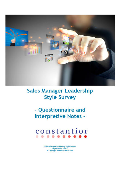 Sales Manager Leadership Style Survey