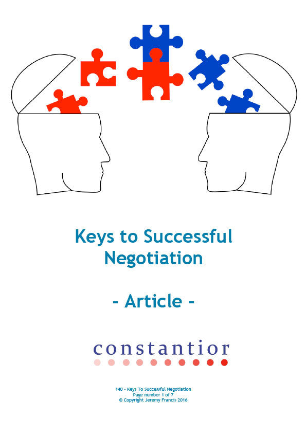 Keys to Successful Negotiation