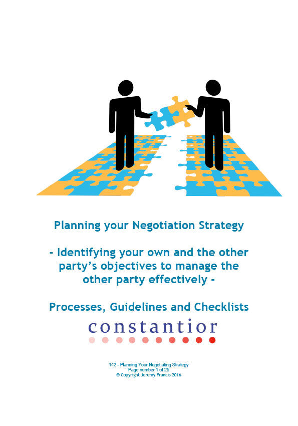 Planning your Negotiation Strategy