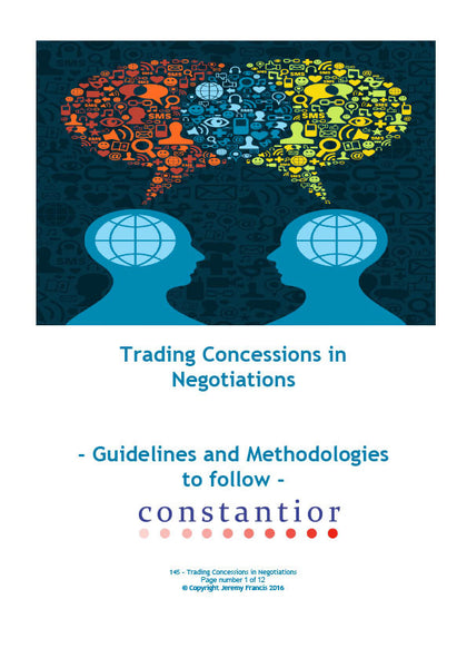 Trading Concessions in Negotiations