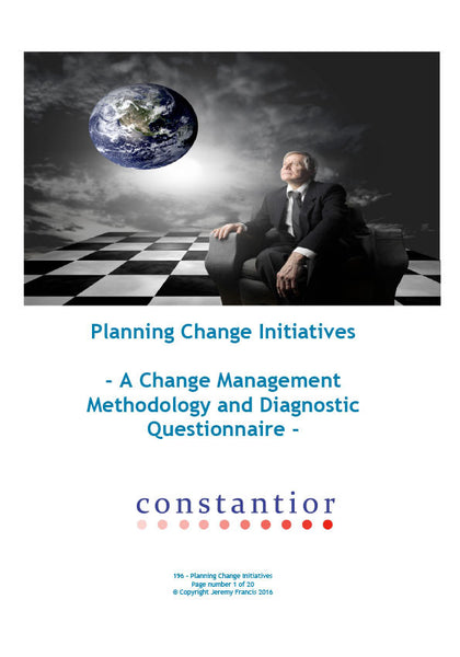 Planning Change Initiatives
