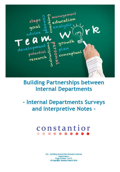 Building Partnerships between Internal Departments