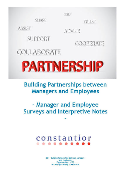 Building Partnership between Managers and Employees