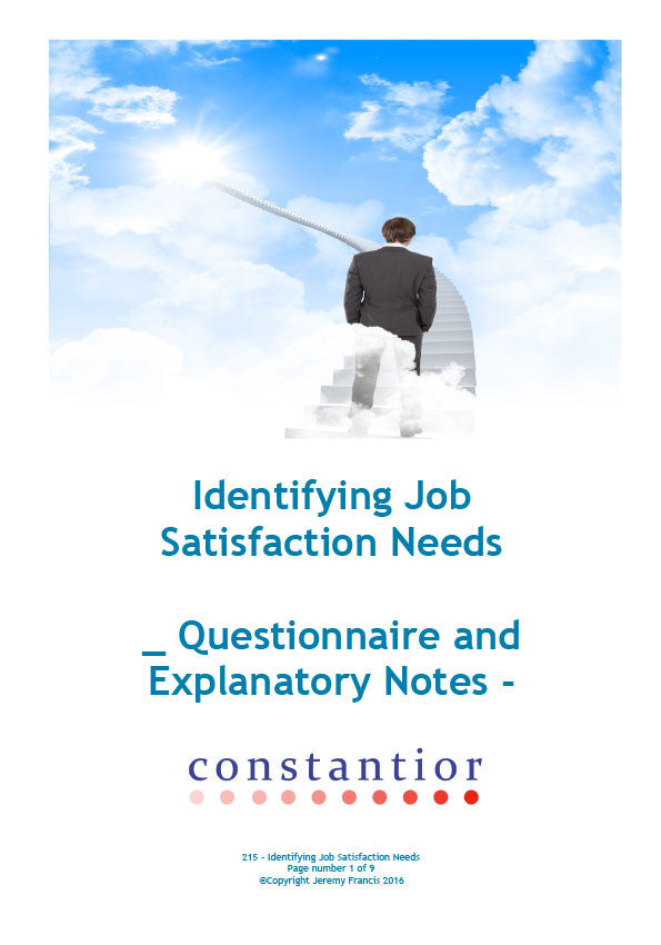 Identifying Job Satisfaction Needs