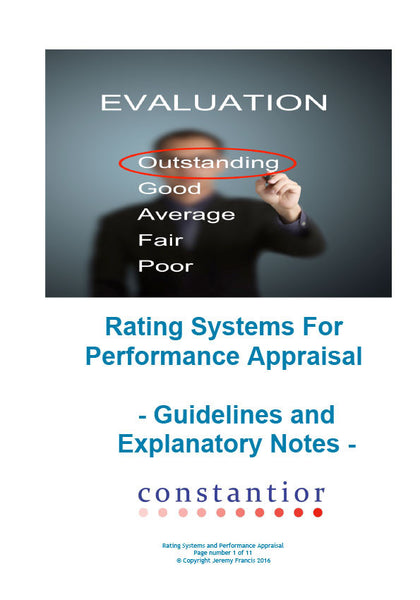 Rating Systems for Performance Appraisal