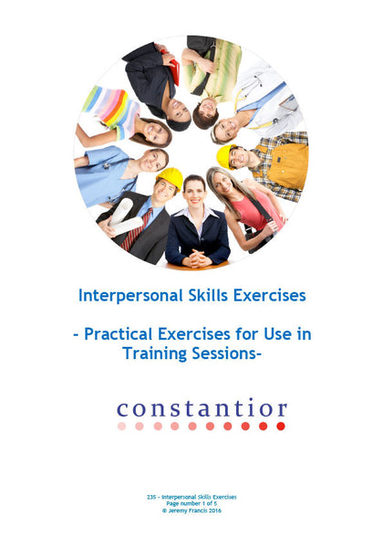 Interpersonal Skills Exercises