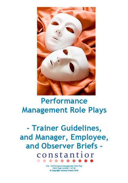 Performance Management Role-Plays