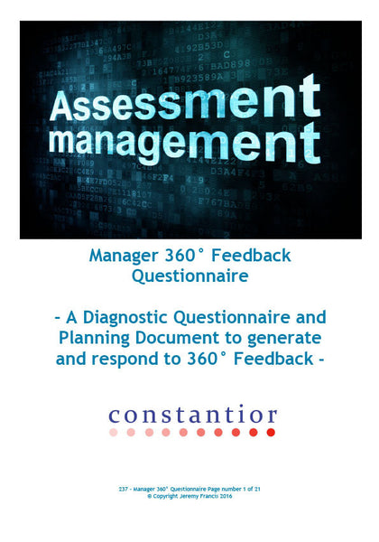 Manager 360 Feedback Questionnaire