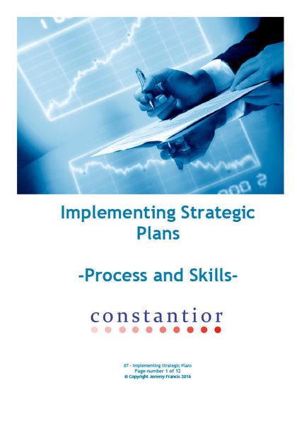 Implementing Strategic Plans