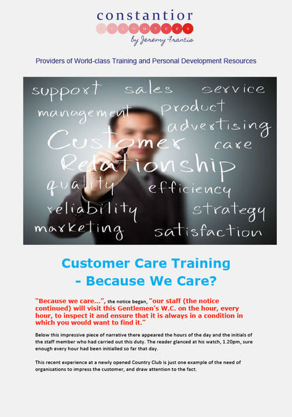 Customer Care Training