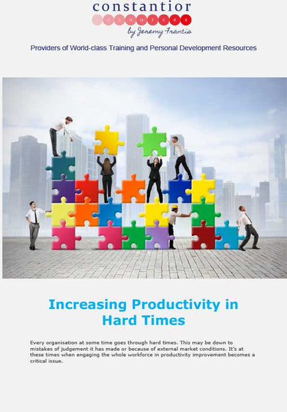 Increasing Productivity In Hard Times