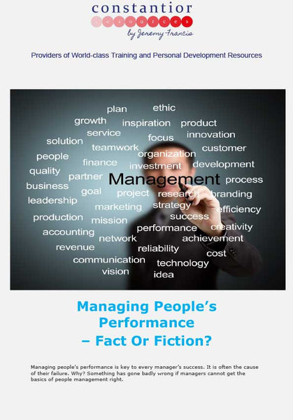 Managing Peoples Performance
