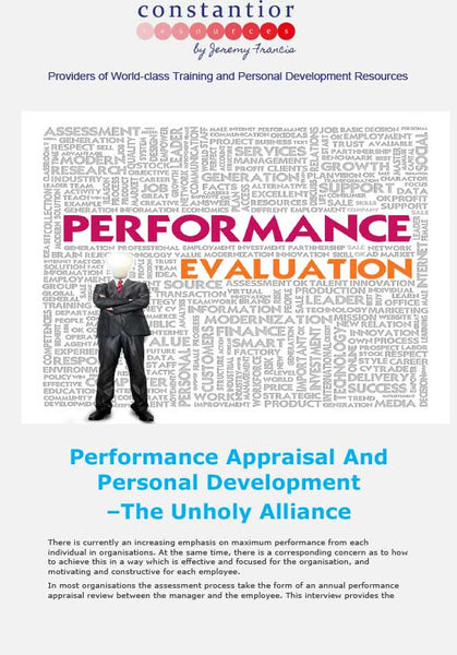 Performance Appraisal And Personal Development