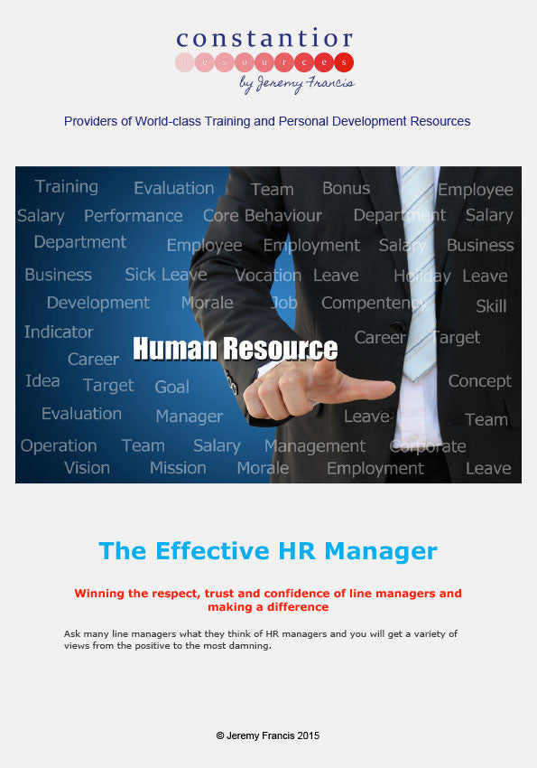 The Effective HR Manager