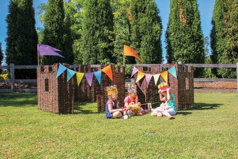 Wicker Play Castle (4 Set or 6 Set)