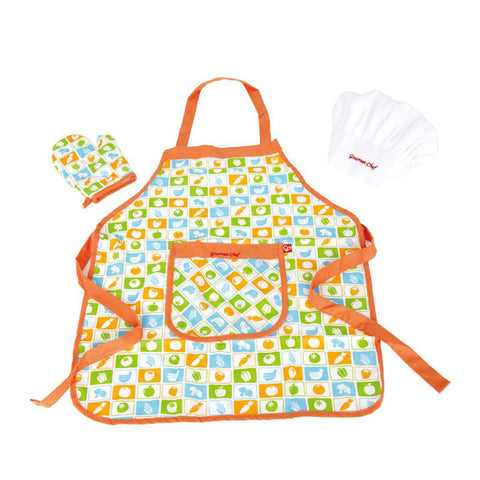Toy Apron Set - With Oven Glove and Hat