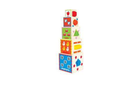 Stacking Wooden Toy - Colourful, Attractive & Durable