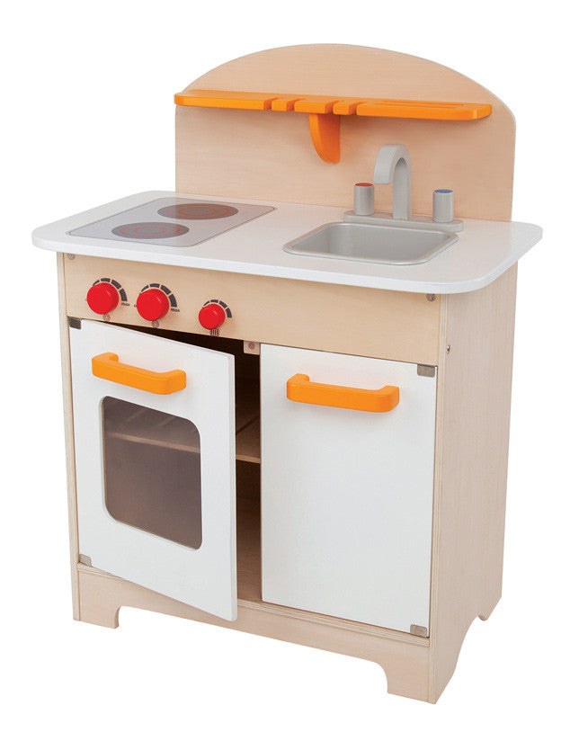 Modern Wooden Play Kitchen toy wooden play kitchen - modern – class space