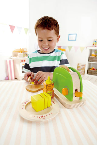 Toy Pop Up Toaster - Wooden