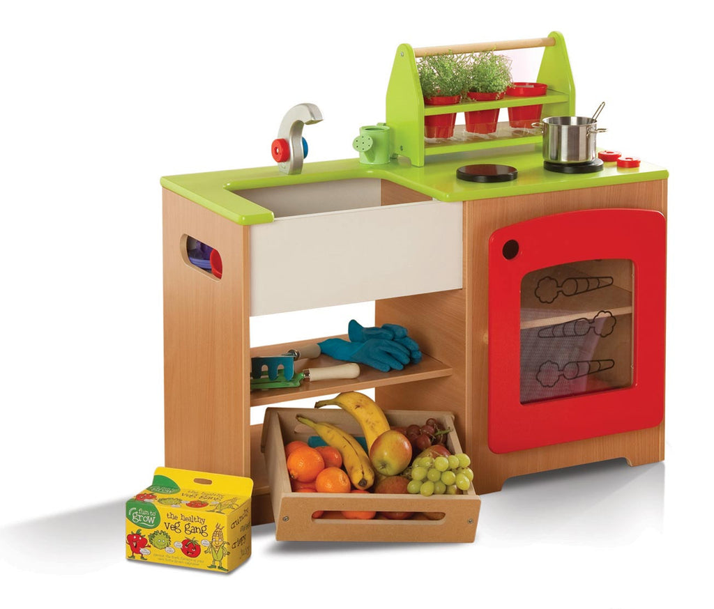 toy kitchen station with healthy eating kit - Toy Kitchen