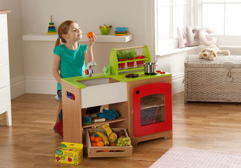 Toy Kitchen Station - With Healthy Eating Kit
