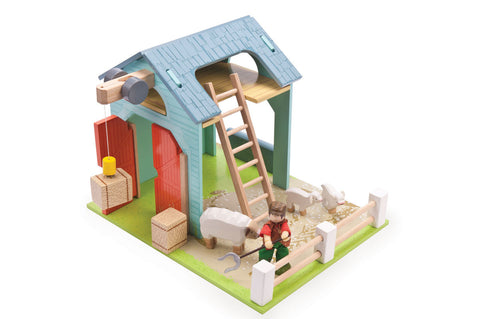 Farm Set - Wooden Barn & Sheep Pen