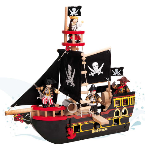 Pirate Toy Ship Barbarosa - Wooden