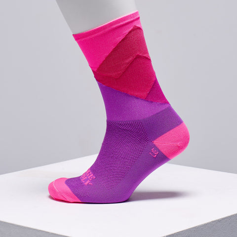 pink cycling socks by ridge supply