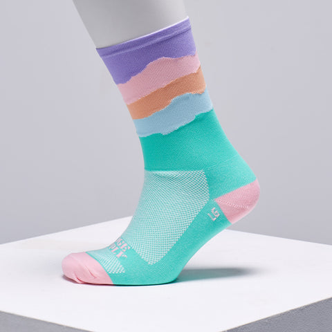 Pastel cycling socks