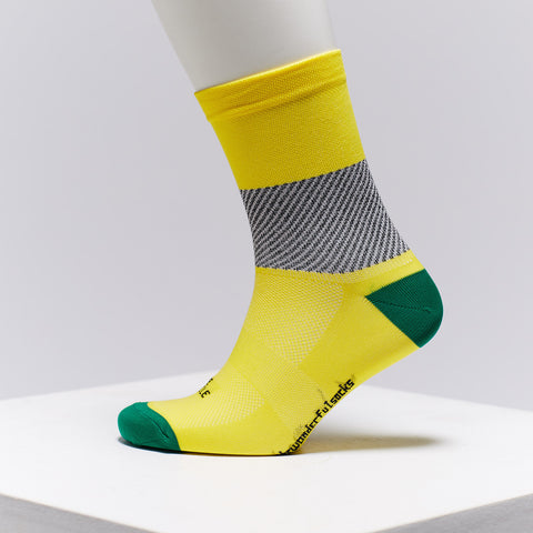 yellow cycling socks