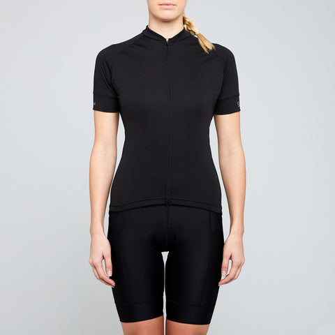 twin six black womens cycling jersey