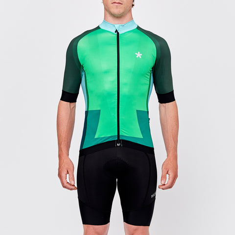 Green summer cycling jersey by Huez on OMNIUM