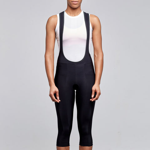 women's cycling thermal winter 3/4 bib tights
