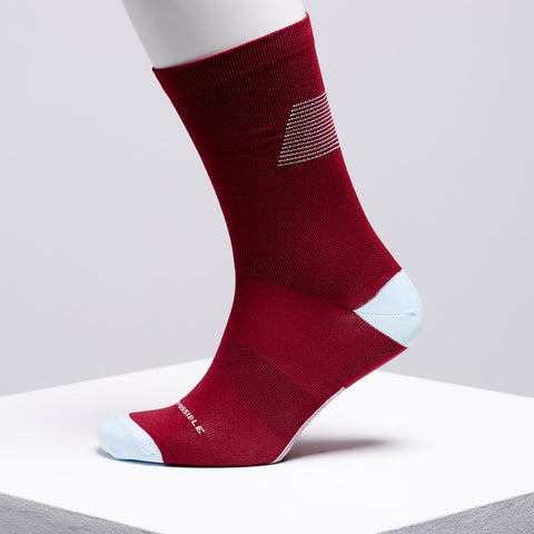 burgundy cycling socks