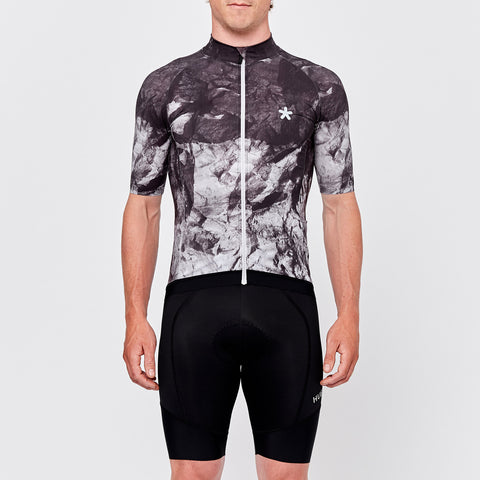 Rock print texture cycling jersey by Huez on OMNIUM