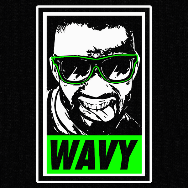 Wavy Graffiti T-Shirt