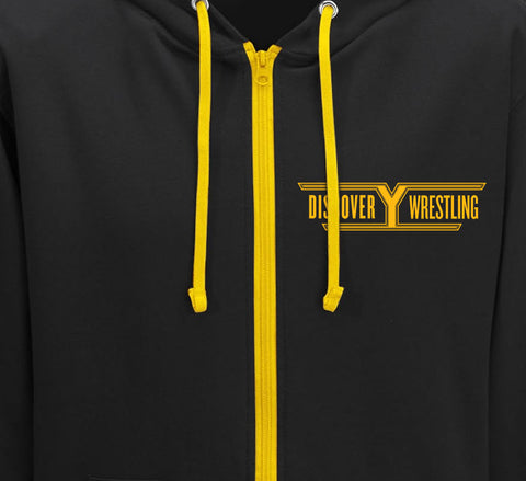 Discovery Wrestling-Pro wrestling Zip-Up Hoodie-Parts Unknown Clothing