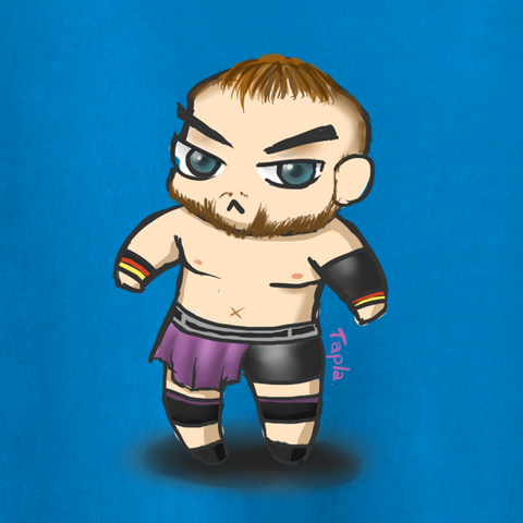 Chibi Juken T-Shirt - Juken - Parts Unknown t-shirts - Wrestling T-Shirt - 1