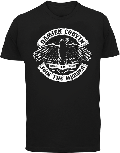 Join The Murder T-Shirt - Damien Corvin - Parts Unknown t-shirts - Wrestling T-Shirt - 2
