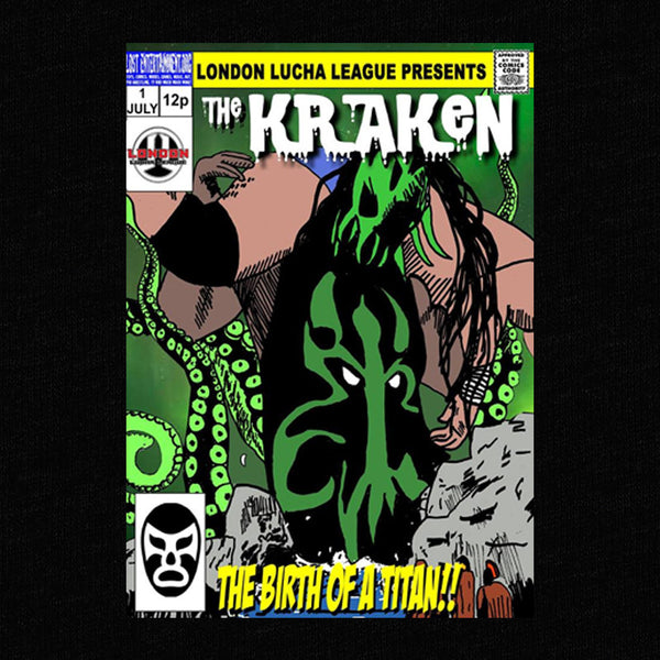 The Kraken-Pro wrestling T-Shirt-Parts Unknown Clothing